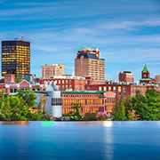 Skyline of Manchester, New Hampshire
